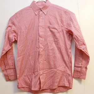 Southern Tide Red Striped Button Down Shirt Size M